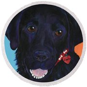 Charlie Round Beach Towel