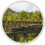 Charlotte Harbor And Northern Railroad Round Beach Towel