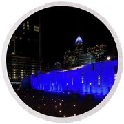 Charlotte, North Carolina From Romare Bearden Park Round Beach Towel by Serge Skiba