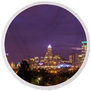 Charlotte, North Carolina Sunrise Round Beach Towel