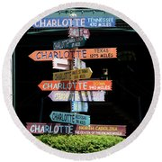 Charlotte Signs Round Beach Towel