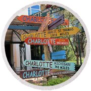 Charlotte Where Are You? Round Beach Towel