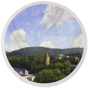 Charlottesville Looking East Round Beach Towel
