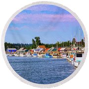 Charlottetown Harbor Round Beach Towel
