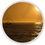 Charm Of A Sunset Round Beach Towel