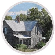 Charming Country Home Round Beach Towel by Liane Wright