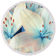 Charming Elegance Round Beach Towel by Iryna Goodall