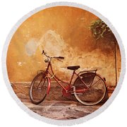 Charming Lucca Round Beach Towel