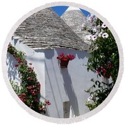 Charming Trulli Round Beach Towel