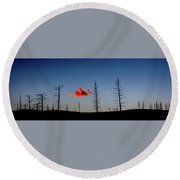 Charred Sunset Round Beach Towel