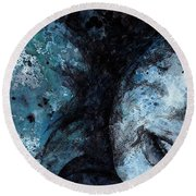 Chase My Blue Away Round Beach Towel