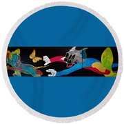 Chase Your Dream Round Beach Towel