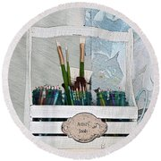 Chase Your Dreams And Create Round Beach Towel