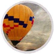 Chasing Hot Air Balloons Round Beach Towel