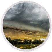 Chasing Nebraska Stormscapes 074 Round Beach Towel