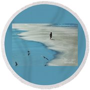 Chasing Shadows  Round Beach Towel