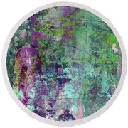 Chasing The Dream - Contemporary Colorful Abstract Art Painting Round Beach Towel