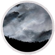 Chasing The Storm Round Beach Towel