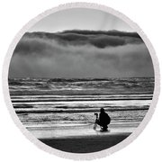 Chasing Tide And Light Round Beach Towel