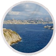 Chateau D'if-island Round Beach Towel