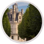 Chateau Morning Round Beach Towel