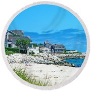 Chatham Cape Cod Round Beach Towel