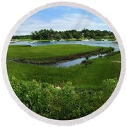 Chatham In July Round Beach Towel