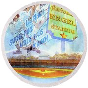 Chattanooga Historic Baseball Poster Round Beach Towel