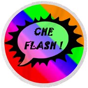 Che Flash Round Beach Towel