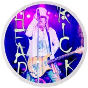 Cheap Trick Robin Zander In Concert Round Beach Towel