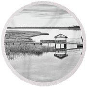 Chechessee Dock Round Beach Towel
