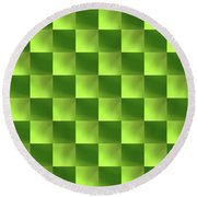 Checkerboard Round Beach Towel