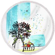 Cheeky Daisies Round Beach Towel