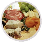 Cheese And Meat Round Beach Towel