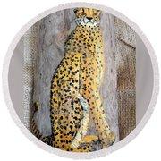 Cheetah Round Beach Towel by Ann Michelle Swadener