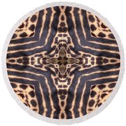 Cheetah Cross Round Beach Towel by Maria Watt