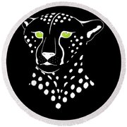 Cheetah Inverted Round Beach Towel