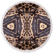 Cheetah Print Round Beach Towel by Maria Watt