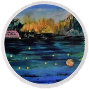 Chelan Round Beach Towel