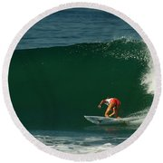 Chelsea Roett Surfer Girl Round Beach Towel