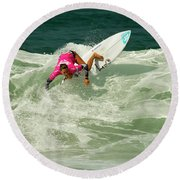 Chelsea Tuach Surfer Girl Round Beach Towel