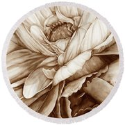 Chelsea's Bouquet 2 - Neutral Round Beach Towel
