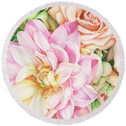 Chelsea's Bouquet Round Beach Towel