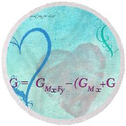 Chemical Thermodynamic Equation For Love Round Beach Towel
