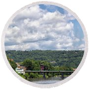 Chenango River Round Beach Towel
