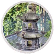 Chendu China Temple Round Beach Towel