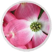 Cherokee Red Dogwood Round Beach Towel