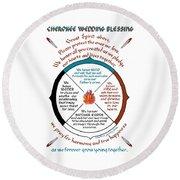 Cherokee Wedding Blessing Round Beach Towel