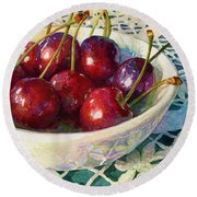 Cherries Jubilee Round Beach Towel
