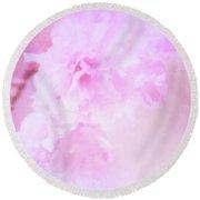 Cherry Blossom Delight Round Beach Towel